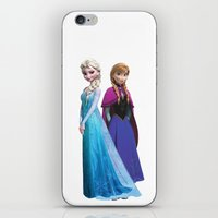 duvet cover iPhone & iPod Skins featuring Frozen anna elsa duvet cover by customgift