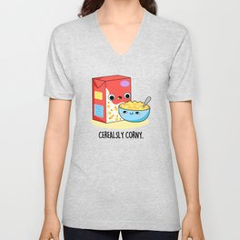 Cerealsly Corny Cute Food Pun Unisex V-Neck
