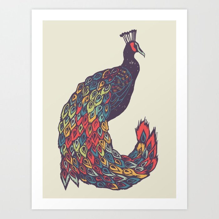 Peacock Wall Art Art Print
