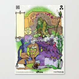 Bloom: An Awakening - The Holy Divinity Marius Janus Gifting the Bloom Shard Canvas Print
