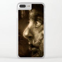 Sad Girl Clear iPhone Case