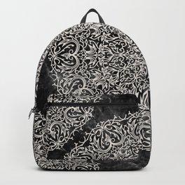 MANDALA ON BLACK MARBLE Backpack