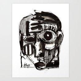 Reflection - b&w Art Print