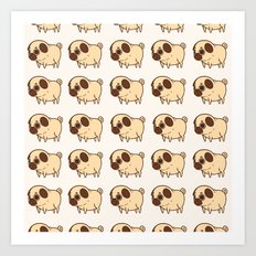 Dog pattern 2232 Art Print