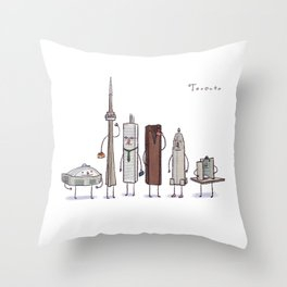 Toronto skyline art print Throw Pillow