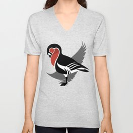 Red-breasted goose (Branta ruficollis) Unisex V-Neck