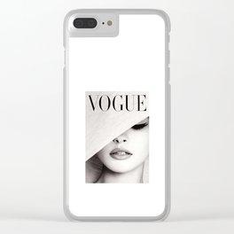 VOGU MAGAZINE COVER Clear iPhone Case