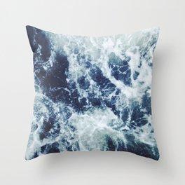 Dark blue Ocean Throw Pillow