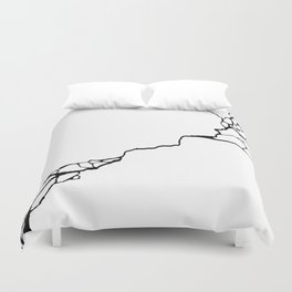 Diagonal Destroyed Light Duvet Cover