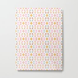 Modern Pastel Geometric Quilt Design Metal Print