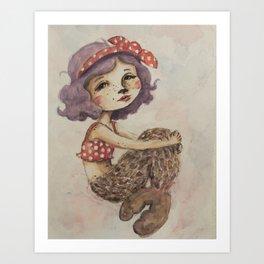 Summer Selkie Art Print