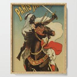 1887 Paris Desert Arabian expo advertising Serving Tray