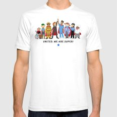 United, We Are Super! Mens Fitted Tee SMALL White