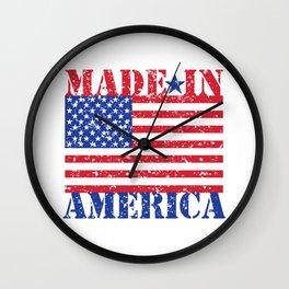 Made In Amerca Wall Clock