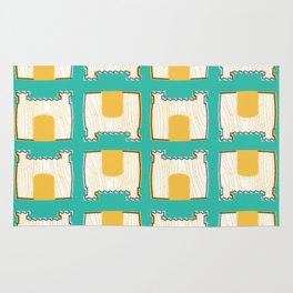 Pillow Fort Night - Teal 2 Rug