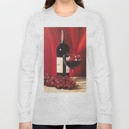 Red Wine, Still Life Long Sleeve T-shirt