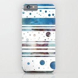Geometric Stripes in Teal iPhone Case