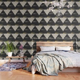 Geometrical Shapes Wallpaper Society6 - Geometrical-shapes-on-bedding