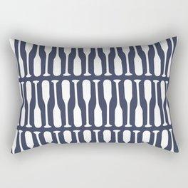 Boat Oars in Navy Blue Rectangular Pillow