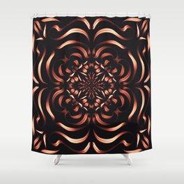 Intense Passion Fiery Mandala - Flower on Fire - Free Spirit Shower Curtain