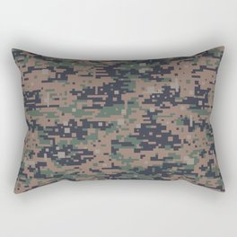 Marines Digital Camo Digicam Camouflage Military Uniform Pattern Rectangular Pillow