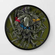 Ancient Ninja Xenomorphs Wall Clock