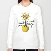 arya Long Sleeve T-shirts featuring Flower Fingers by Hinal Arya