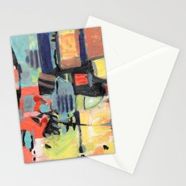 orange abstraction Stationery Cards