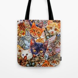 Kitty Cat Collage Tote Bag