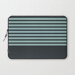 Navy stripes on turquoise Laptop Sleeve