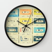 music Wall Clocks featuring All Tomorrow's Parties by Cassia Beck