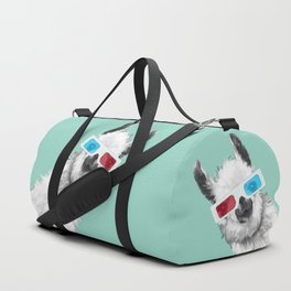 Sneaky Llama with 3D Glasses #01 Duffle Bag