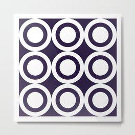 HARLON CIRCLES BY SUBGRL Metal Print