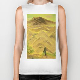 Wonderful desert mountains Biker Tank