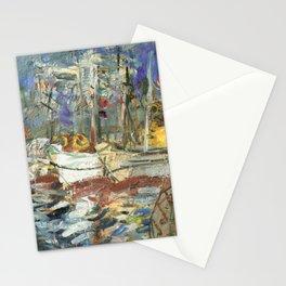 Kida Kinjiro - Going Fishing / Port Iwanai at Midday (1957) Stationery Cards
