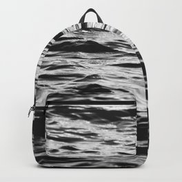 Marble Waters Black and White Backpack