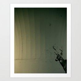 urban deer Art Print