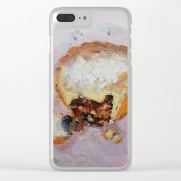 Mince Pie Clear iPhone Case
