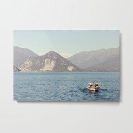 Boat on Lago Maggiore Metal Print