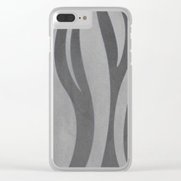 Gray texture Clear iPhone Case