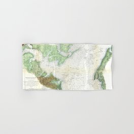 Patapsco River and Chesapeake Bay Map (1857) Hand & Bath Towel