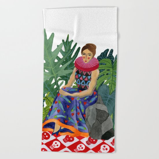 Queen of the greenhouse Beach Towel