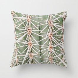 Up close | Cactus botany photography print Throw Pillow