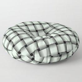Pastel Green Weave Floor Pillow