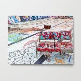 Graffiti Couch Metal Print