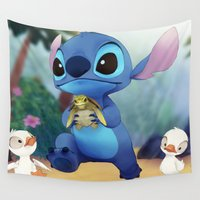 stitch Wall Tapestries featuring Stitch by beastace