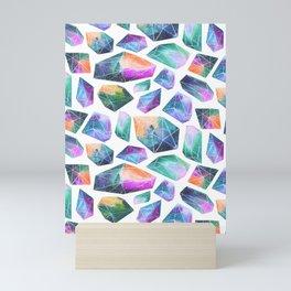 Geometric Crystals Amethyst Geode Pattern 1 Mini Art Print