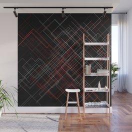 Wyre diagonal - BlackRed Wall Mural