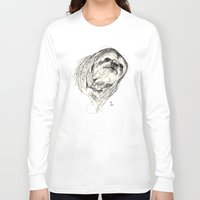 sloth Long Sleeve T-shirts featuring Sloth by Ursula Rodgers