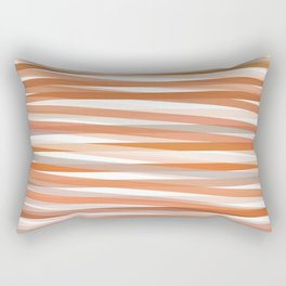 Fall Orange brown Neutral stripes Minimalist Rectangular Pillow